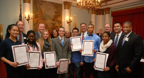 Group Lavender and the Union County Board of Chosen Freeholders at the 157th Union County Reorganization Group Lavender (Left to Right): Alyson Liu, Kalilah Underwood, Kristen Nugent, Thomas Little, Johann Ernest, Shazuil Bennett, Jalyse LeeUnion County Board of Chosen Freeholders (Left to Right): Freeholder Bruce Bergen, Freeholder Chairman Christopher Hudak, Freeholder Linda Carter, Freeholder Vernell Wright, Freeholder Alexander Mirabella, Freeholder Angel G. Estrada, Freeholder Sergio Granados, Freeholder Vice Chairman Mohamed S. Jalloh